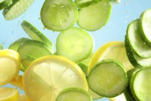 Detox Infused Water with Cucumber and Lime